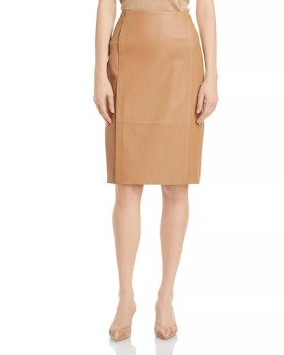 Sepassa Leather Pencil Skirt