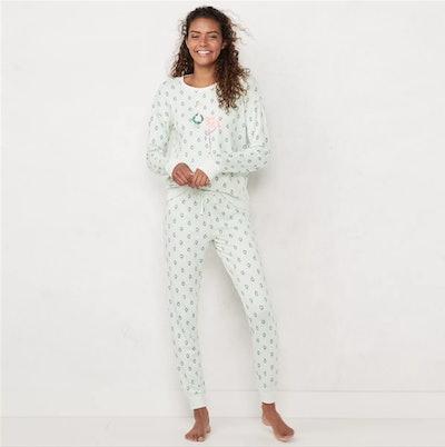 LC Lauren Conrad Extra Soft Pajama Set