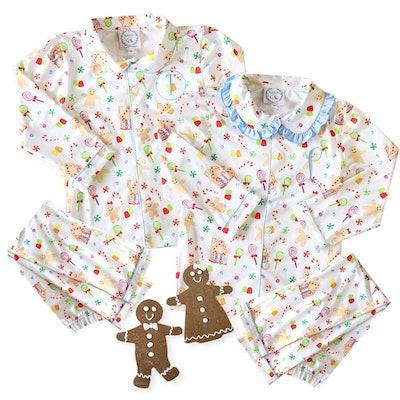 Child Gingerbread Monogrammed Pajama
