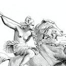 Female warrior illustration
