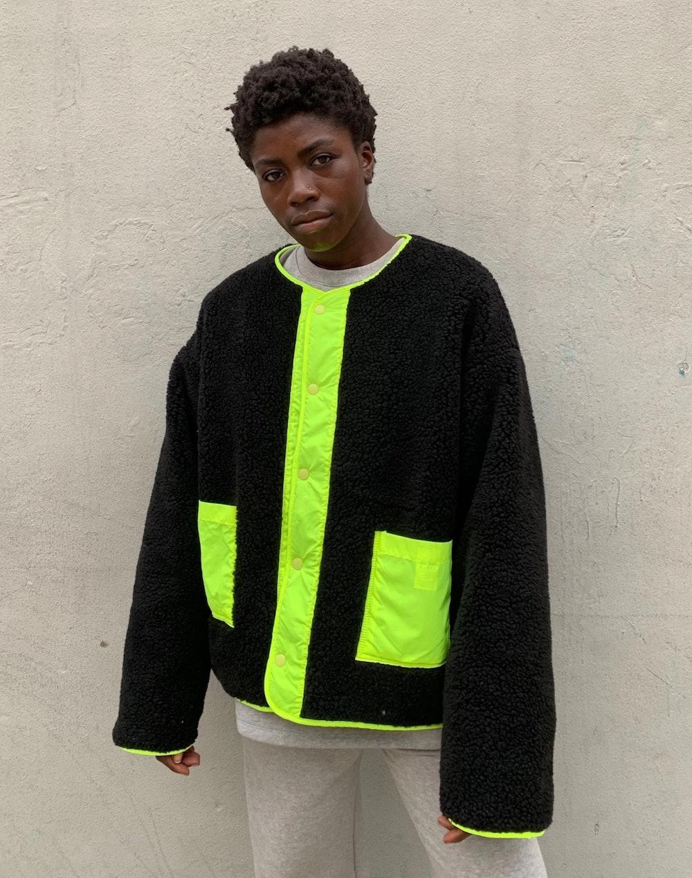 Buttoned Fleece Jacket