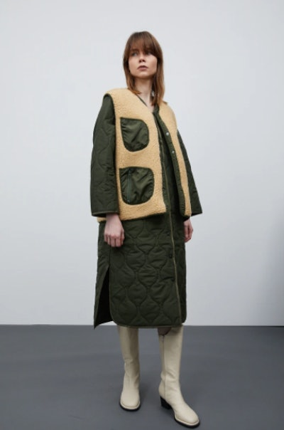 Quilted Coat Quilted and Shearling Quilted Coat
