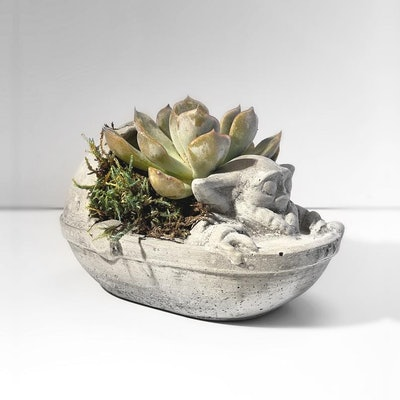 Baby Yoda Planter Mini - Mandalorian Planter