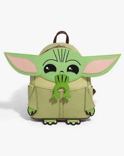 Star Wars The Mandalorian The Child Frog Figural Mini Backpack - BoxLunch Exclusive
