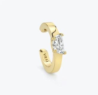 Half Moon Diamond Ear Cuff