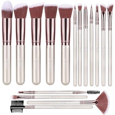 BESTOPE Makeup Brush Set (16-Pieces)