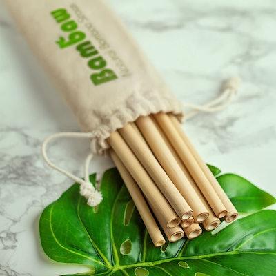 Bambaw Reusable Bamboo Drinking Straws (12-Pack)