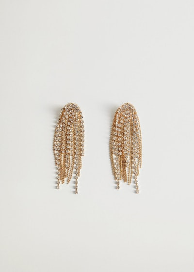 Rhinestone pendant earrings
