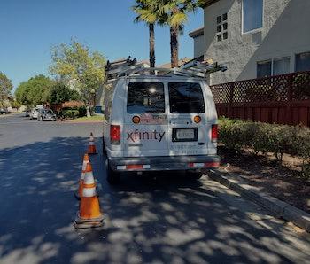 Comcast Xfinity service vehicle.