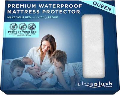 UltraBlock Waterproof Mattress Protector, Queen