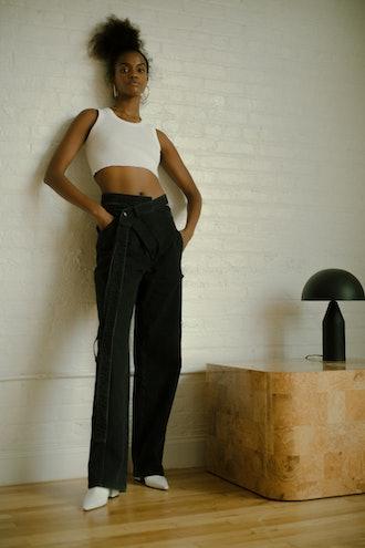 Black Wrap Jeans