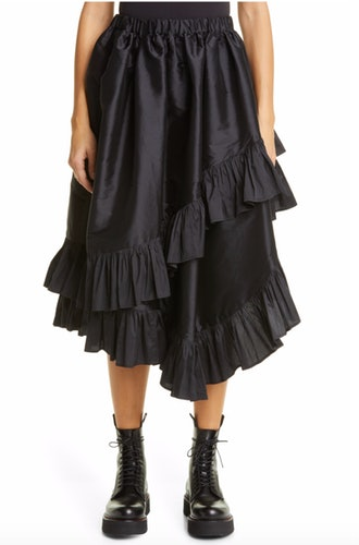 Asymmetrical Taffeta Skirt