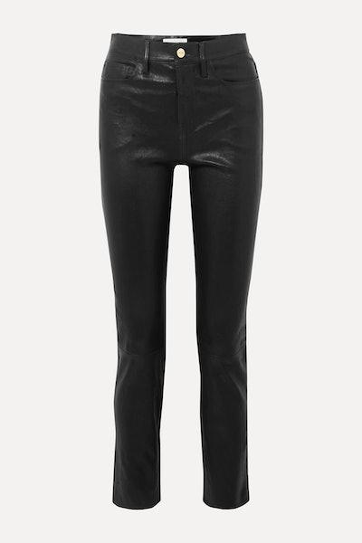 Le Sylvie high-rise slim-leg leather pants