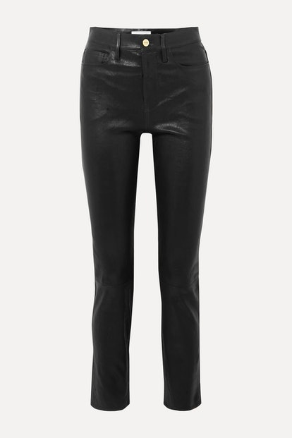 Le Sylvie high-rise slim-leg leather pants