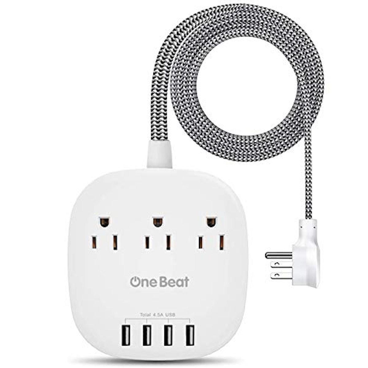 One Beat Power Strip With USB Ports