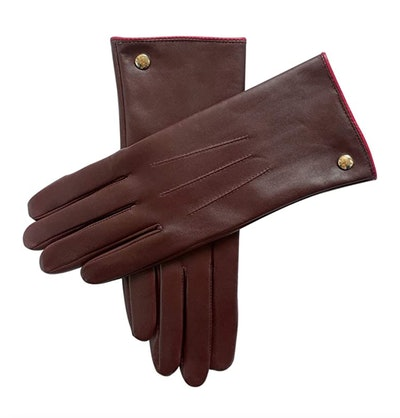 Elma 100% Pure Cashmere-Lined Leather Gloves