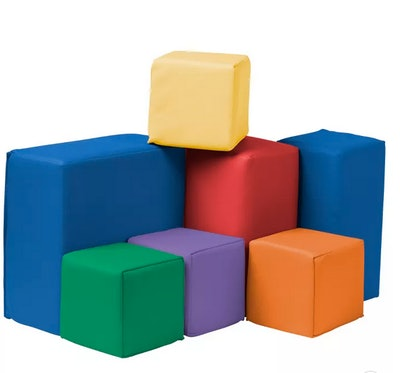 ECR4Kids Softzone Foam Toddler Building Blocks, Soft Play for Kids, 7pc Set