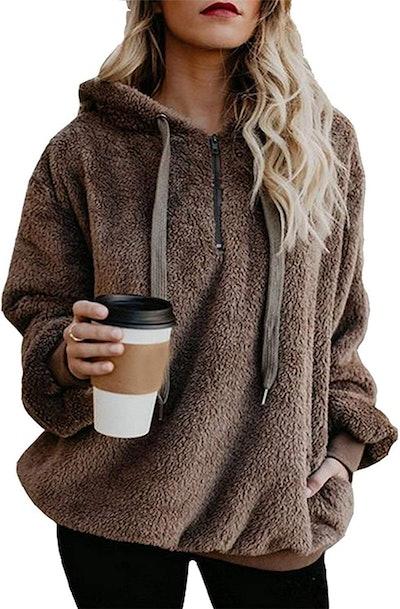 ReachMe Oversized Sherpa Hooded Sweatshirt