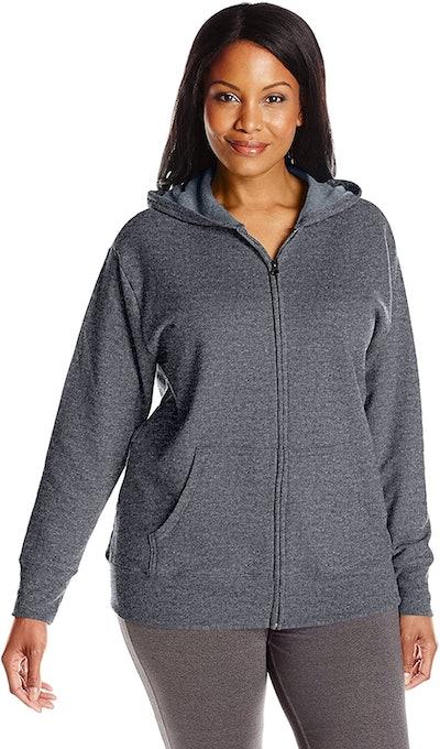 Just My Size Plus-Size Full Zip Fleece Hoodie