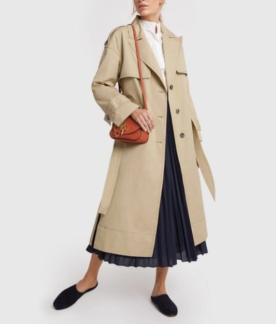 Oversize Water-Resistant Trench Coat