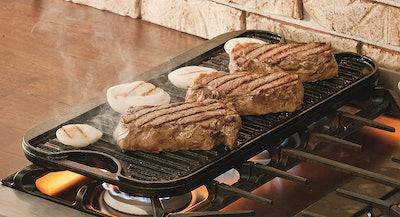 Lodge Pre-Seasoned Cast Iron Reversible Grill