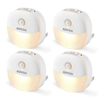 AUVON LED Motion Sensor Night Lights (4-Pack)