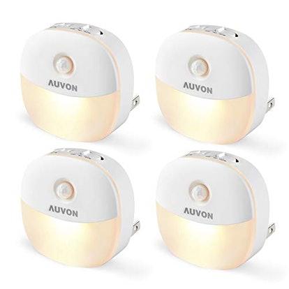 AUVON LED Motion Sensor Night Lights (4-Pack)