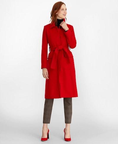 Brushed Wool Twill Wrap Coat +WISHLIST