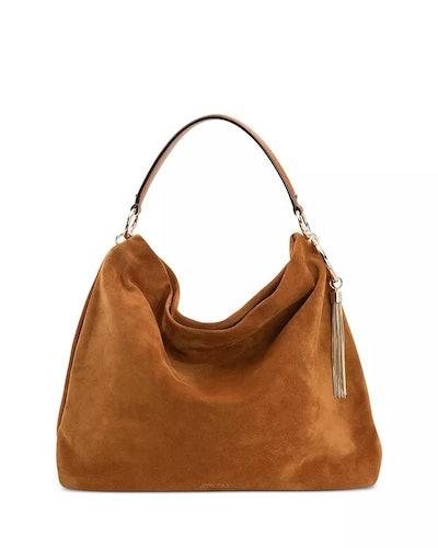 Callie Large Suede Shoulder Bag