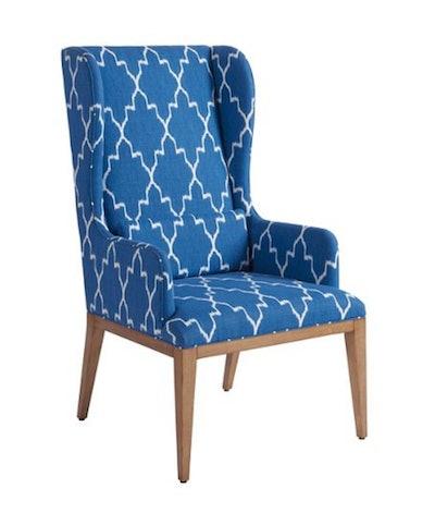 Seacliff Wingback Armchair, Blue/White