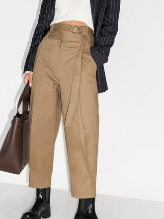 Myriam Twill Double Waisted Sculpted Pant