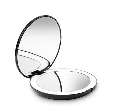 Fancii LED Lighted Travel Makeup Mirror