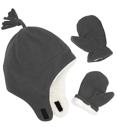 Sarfel Sherpa Hats and Mittens Set