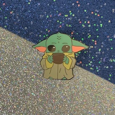 "Baby Yoda ""Grogu"" Enamel Pin - Hard Enamel Pin"