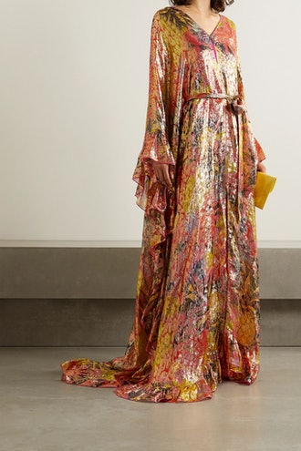 Belted Ruffled Gown