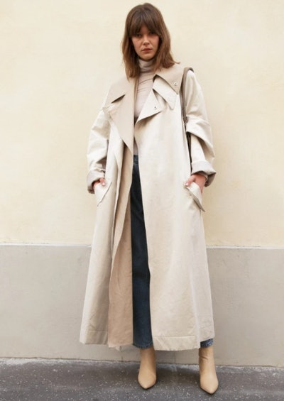 Ivory Layered Trenchcoat