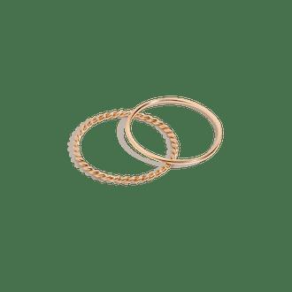 Twist Stacking Set (14K Gold)