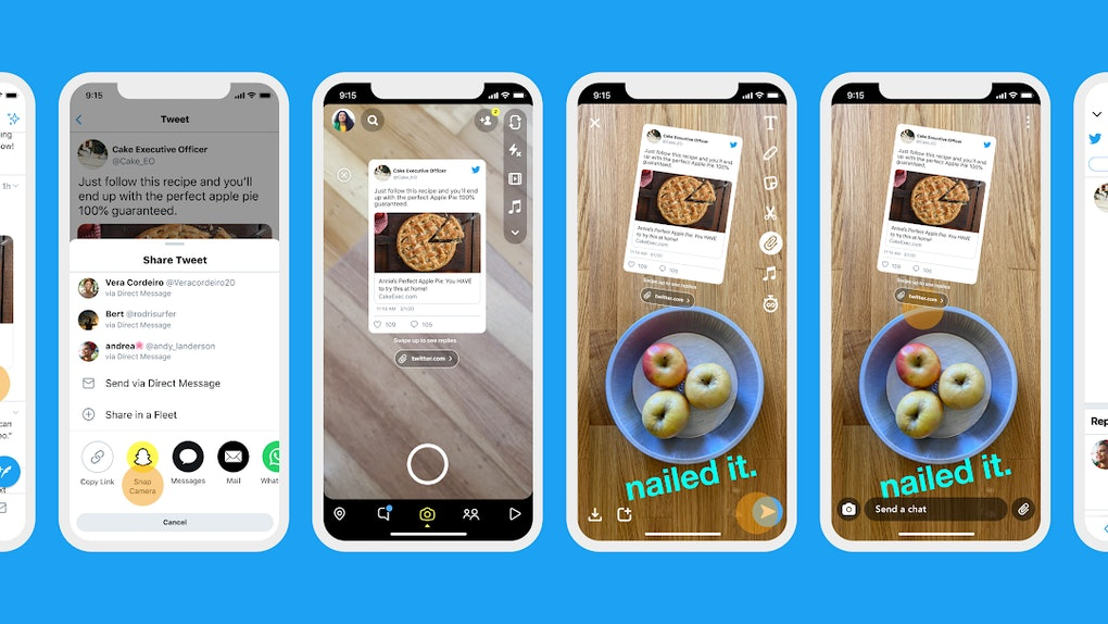 Here's how to share tweets on Snapchat, because it's super easy.