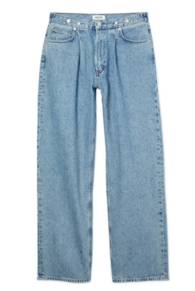 Baggy Tab High Rise Jeans