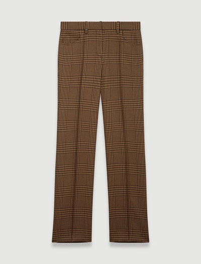 STRAIGHT CUT CHECKED PANTS