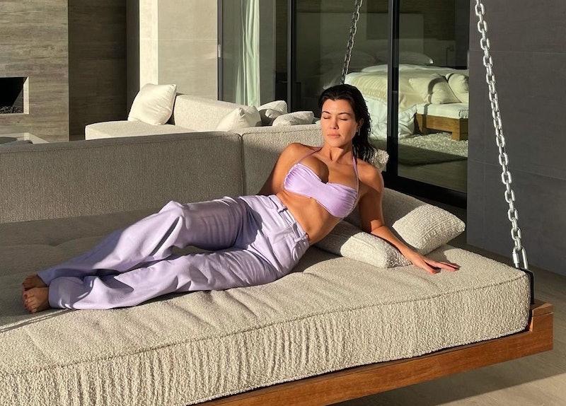 Kourtney Kardashian's home features oversized floor cushions, a cozy new trend