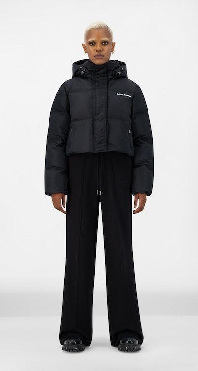 Black Epuff Cropped Jacket