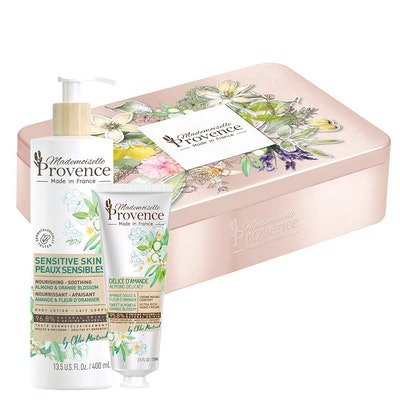 Mademoiselle Provence Deluxe Almond & Orange Blossom Tin Gift Set