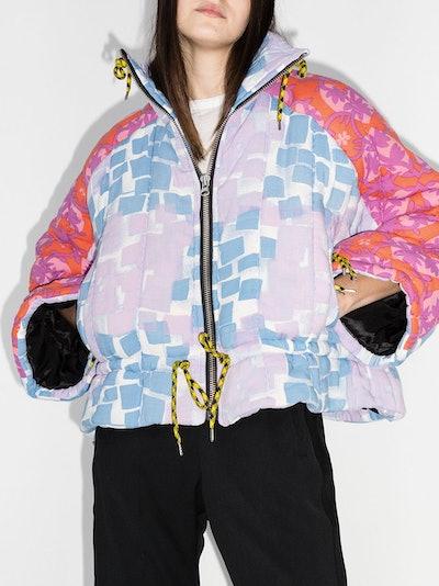 Liz Patchwork-Design Puffer Jacket