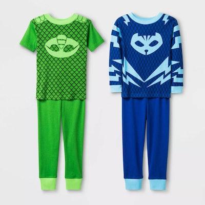 Toddler Boys 4-Piece PJ Mask Pajama Set