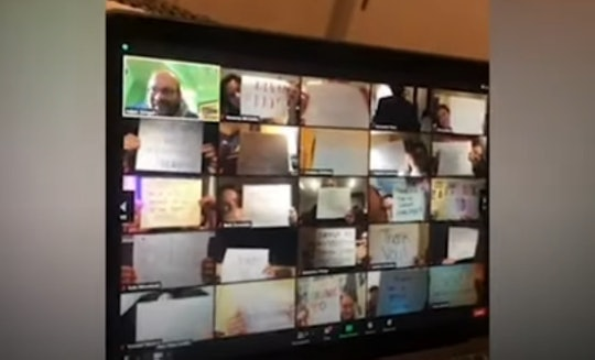 Students surprised their professor on Zoom with messages of gratitude.