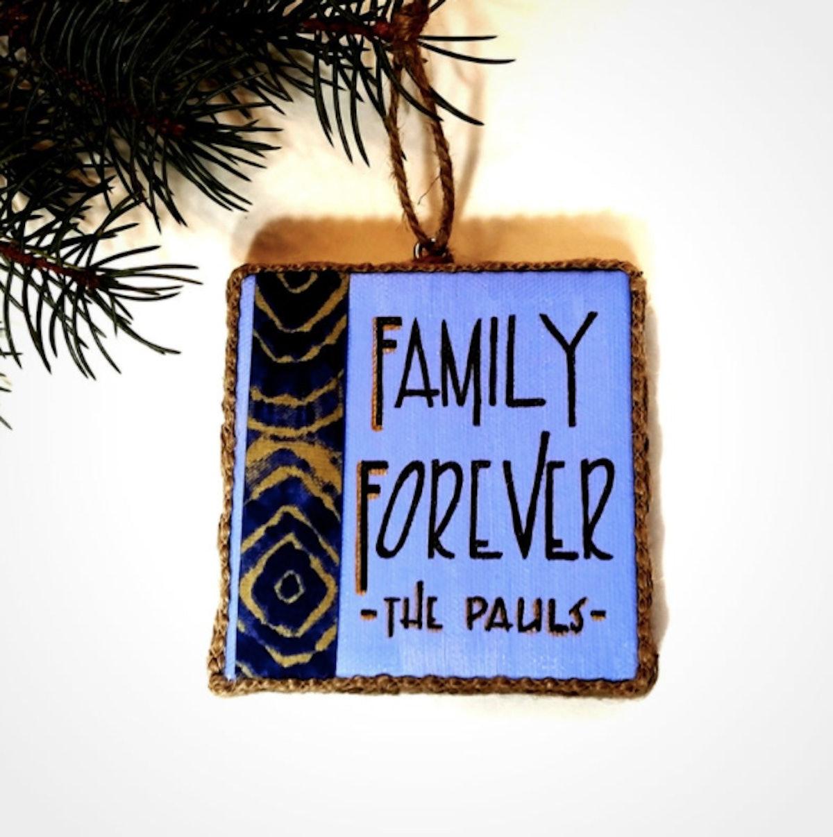 Christmas Ornament Family - Family Christmas Ornament - Personalized Family Christmas -African Ornaments -African Home Decor -Family Forever