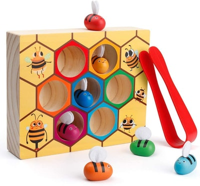 Coogam Clamp Bee to Hive Matching Game