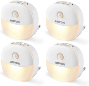 AUVON LED Motion-Sensor Night Light (4-Pack)