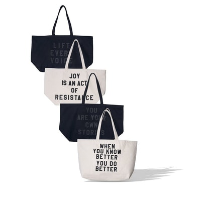Canvas Tote with Quote
